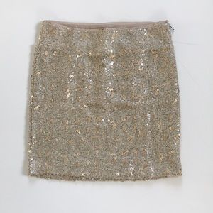 Wool and sequin skirt